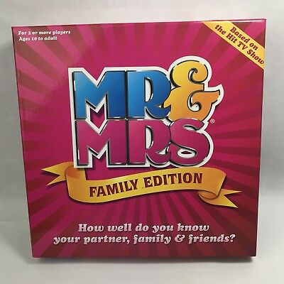 Mr And Mrs Family Edition Board Game 100% Complete Christmas Fun Excellent Cond.