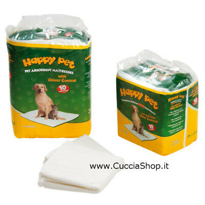 TAPPETINI assorbenti HAPPY PET cucciolo cane cuccioli cm 60x90 - made in Italy!