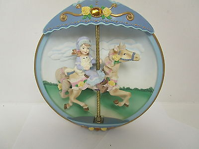 Vintage The Bradford Exchange Musical Carousel Horse Collectors Item Classic