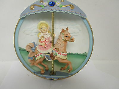 Vintage Classic Cool The Bradford Exchange  Musical Carousel Horse Collectable