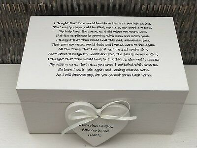 Personalised LARGE Box In Memory Of A Loved One ~ Loss Of Daughter Son Any Name