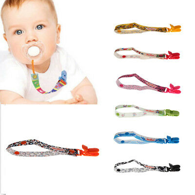 DELUXE Dummy Pacifier Soother Kids Baby Boys Girls Strap Chain Clip Holder