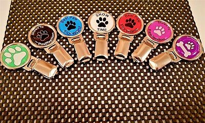 Dog Show Ring Number Clip Pin Fastener on rear - Paw