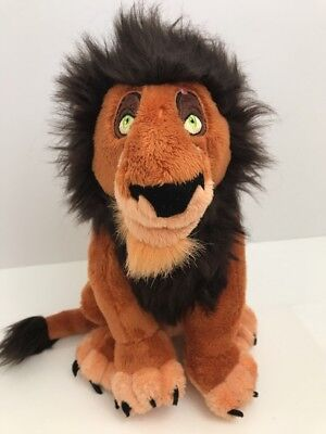 Disney Theme Parks Plush Lion King Character SCAR Stuffed Animal Toy 10 Inches
