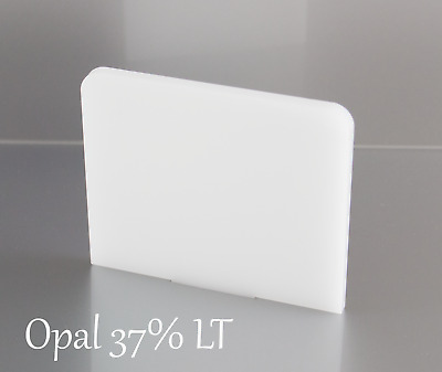 OPAL WHITE ACRYLIC 37% LIGHT TRANSMITTING SHEETS 100mm - 600mm