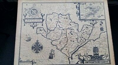 REPRODUCTION  of   1610   MAP OF ANGLESEY
