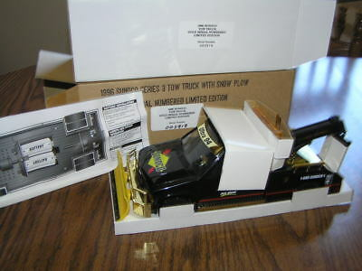 NIB 1996 Sunoco Series 3 Tow Truck With Snow Plow - Gold Serial Numbered Ltd. Ed