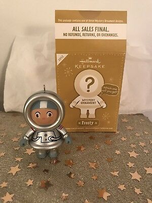 Hallmark 2012 Astronaut Frosty silver Repaint Mystery Ornament