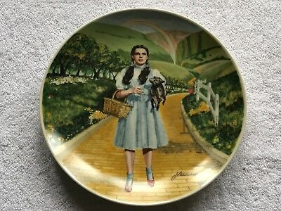 "Vintage Hand-Painted Wizard of Oz ""Over The Rainbow"" Decorative Plate"