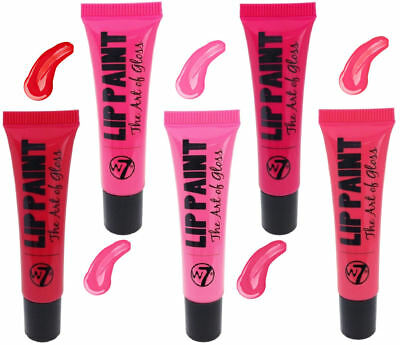 W7 Lip Paint Lipgloss - Shiny Glossy Lipstick Red Pink Soft Bright Makeup Beauty