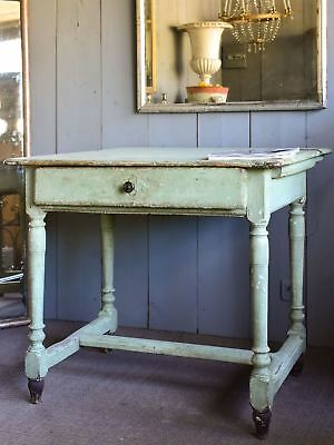 Rustic Italian square table from a servery
