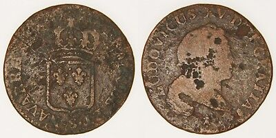 US COLONIAL (FRANCE) - 1720-S 1/2 Sol - Louis XV - John Law