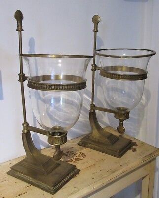 PAIR of GRAND Hurricane Lamps