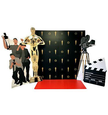 Hollywood Red Carpet Scene Step & Repeat Backdrop, Red Carpet, Camera, Paparazzi