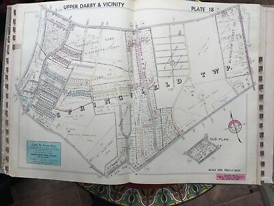 1942 Delaware Co Pa Springfield Twp Mt Sharon Cemetery Evan Lutheran Atlas Map