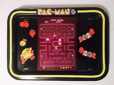 PAC-MAN 1980s Vintage Midway Metal Television Lap Tray With Legs 80's PACMAN