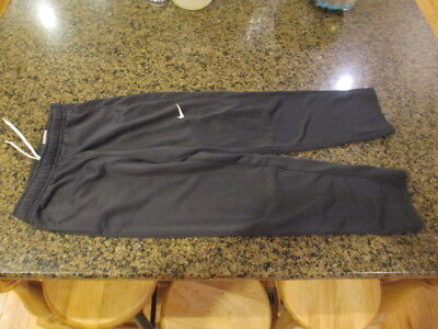 Nike sweat Pants Running boys girls XL Black track Fitness tie string waist