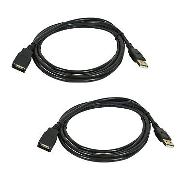 2x  USB 2.0 A Male to A Female Extension 28/24AWG Cable - (Gold Plated) - 15ft