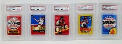 Topps Baseball 1976 1977 1978 1979 1980 Factory Sealed Wax Pack Lot Psa Graded