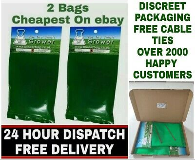 2 SMART Organic CO2 Bags Hydroponic Growing Large Yields 5-15m 2Area Original UK