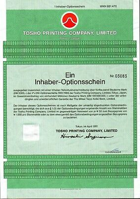 Lot 10 X Tosho Printing Company, Limited 1er-OS 1991