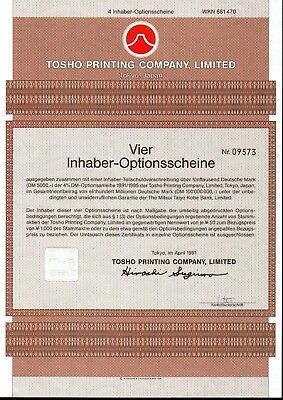 Lot 10 X Tosho Printing Company, Limited 4er-OS 1991