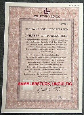 Lot 50 X Renown Look Incorporated 1er-OS 1989