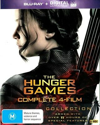 """THE HUNGER GAMES COMPLETE 4-FILM COLLECTION"" Blu-ray + Dig. UV - Region [B] NEW"
