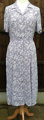 Vintage Laura Ashley Tea Dress Beautiful Floral Print Size 12 Stunning VGC