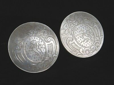 Antique Chinese Pearl Gaming Counters Armorial Casino Chips 2 Rampant Lion