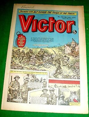 Lancashire Fusiliers Break Hindenburg Line Ww1 Cover Story In Victor 14/2/1976