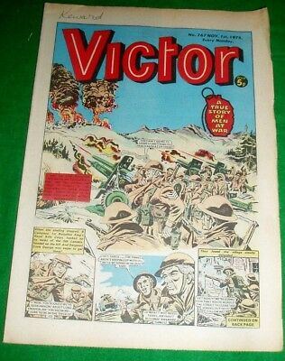 Kings Royal Rifle Corps In Italy  Ww2 Cover Story In Victor Comic 1/11/1975