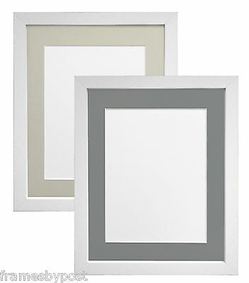 Black & White Photo Picture Frames with Acid Free Light or Dark Grey Mount MDF
