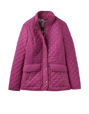Joules | Newdale Quilted Coat | Pink / Ruby | Ladies / Womens | RRP £89.95