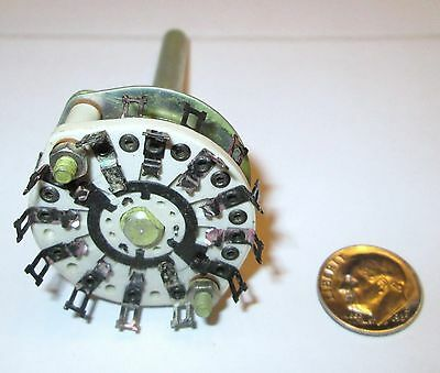 Ceramic Rotary Switch * Shorting *  3 Pole - 5 Positions Centralab   Nos  1 Pcs.
