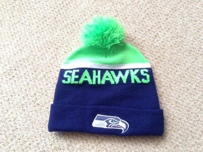 ... 2017 sideline sport knit 199f5 7a4e8 usa new era nfl bobble seattle  seahawks sport knit sideline beanie fitted hat e4413 aada4 ... 7b46918b2