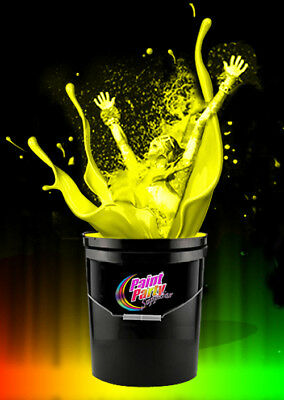 5 Gallon Washable Neon Yellow UV Glow Party Paint - Blacklight Paint