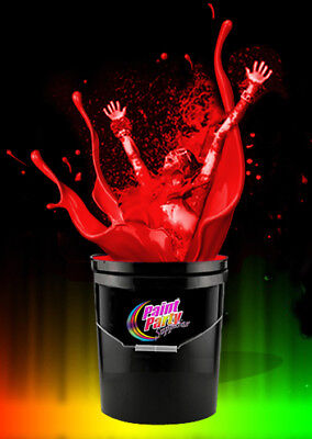 5 Gallon Washable Neon Red UV Glow Party Paint - Blacklight Paint