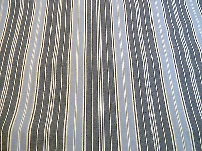 Lovely Designer Home Accents Melba Denim Blue Off White Stripe Fabric Outlet Bty