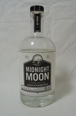 Moonshine Liquor Advertising Bottle Midnight Moon Junior Johnson NC Collectible