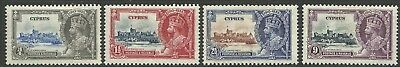 Cyprus - GV Silver Jubilee - SG144/7 - MM (just one mount) - Cat £38