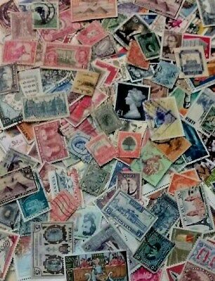 Collection Of 500 Older Worldwide Stamps **Plus Special $100 Bonus Free**