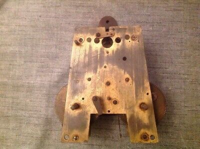 "Antique Wall Clock Movement To Restore 10"" X 7.5"""