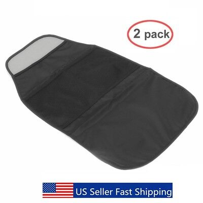 2 Packs Car Seat Back Protector - Kids Kick Mat with 2 Pockets