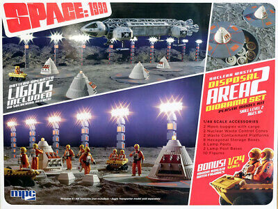 Moonbase Alpha Space:1999 Nuclear Waste Area 2 Diorama 1:48 MPC Model Kit MPC860