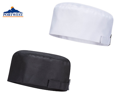 Portwest Chefs Cooks MeshAir Skull Cap Food Hygiene Catering Hat Head Cover S900