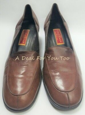 e5c25f8a6cf COLE HAAN CITY D10348 Made Italy Brown Leather Slip On Loafer SHOES 9.5 B  Womens