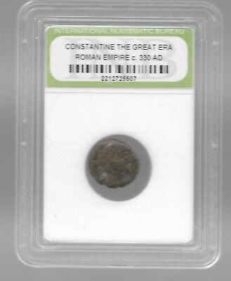 Rare Old Ancient Antique CONSTANTINE GREAT Roman Empire War Collection Coin AB50
