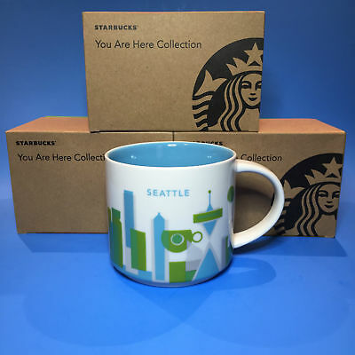 Starbucks YOU ARE HERE YAH City Mug - Seattle  NIB with Tag Cup Gift