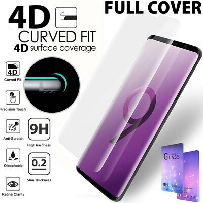 Galaxy Note 9 8 S9 S8 Plus tempered Glass Full Cover Screen Protector Fr Samsung